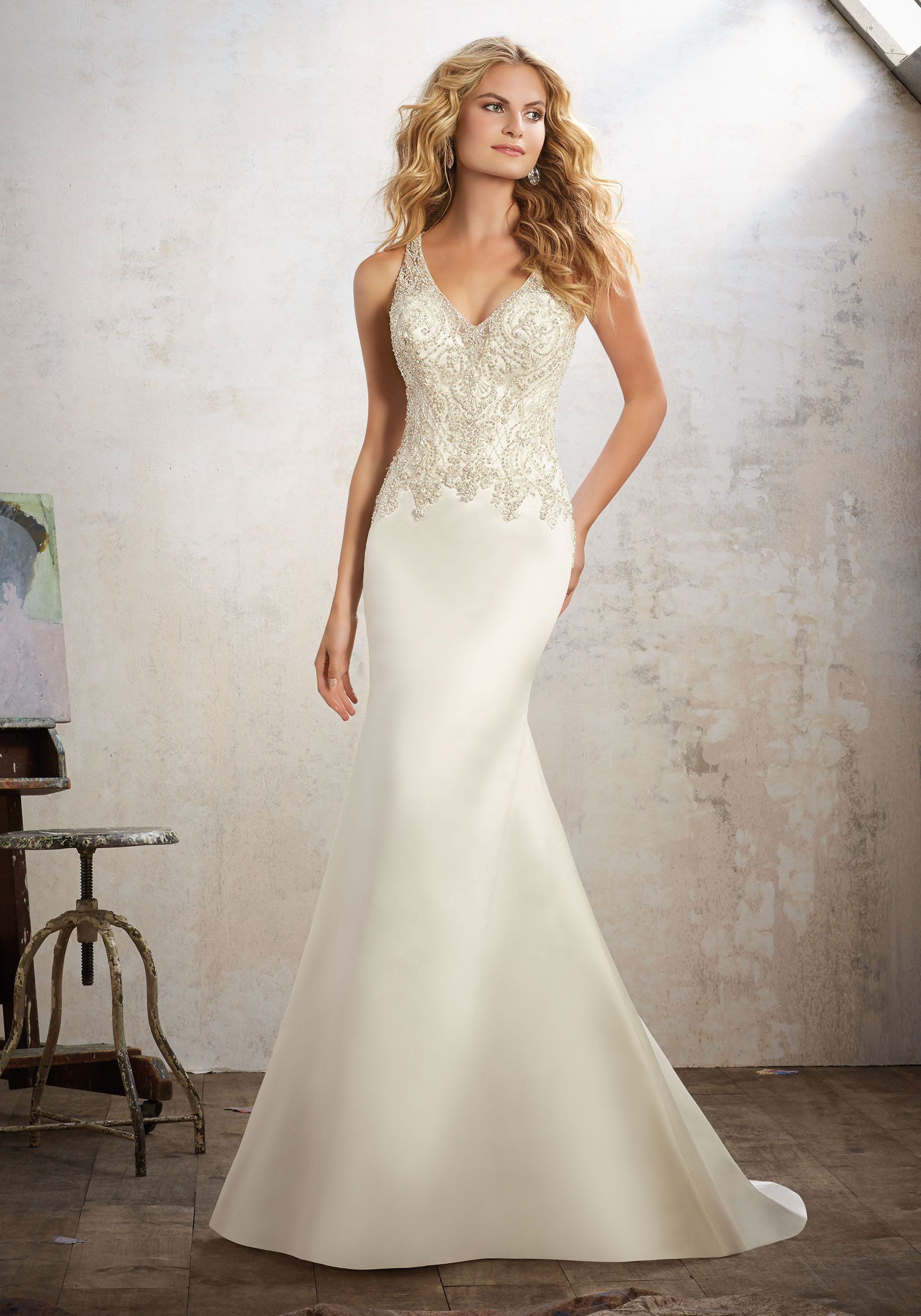 Morilee By Madeline Gardner Maria 8121 Elegant Fit Flare Wedding Gown Features
