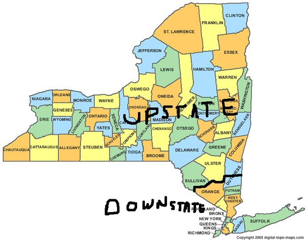 Map Of New York Upstate.49 Things People From Upstate New York Love Upstate N Y Map Of