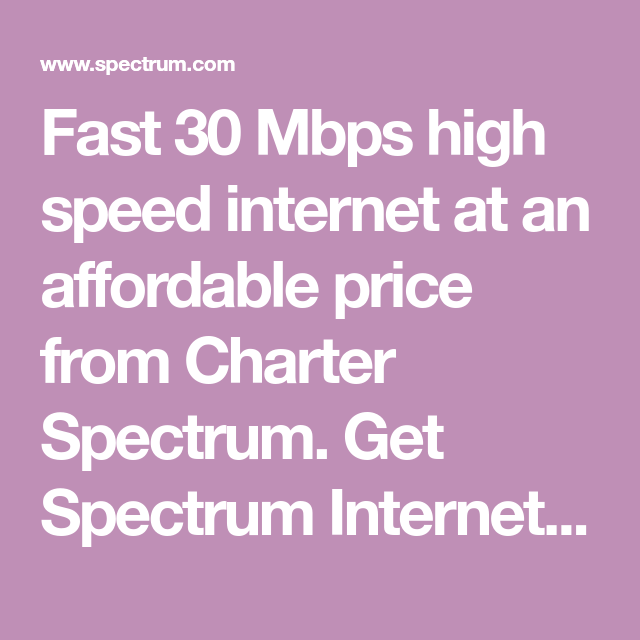 Fast 30 Mbps High Speed Internet At An Affordable Price From
