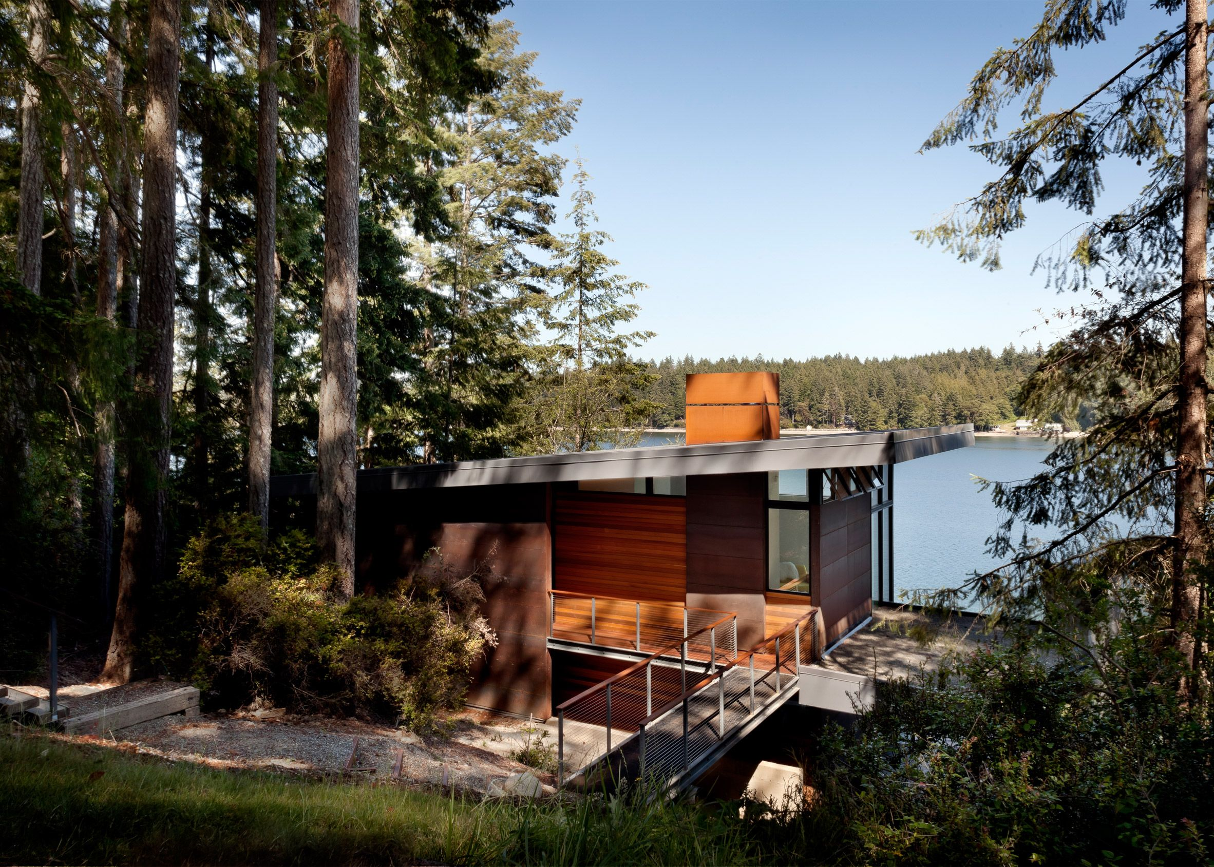 Herron Island Cabin By First Lamp Architects Waterfront Homes Cabin Waterfront Property