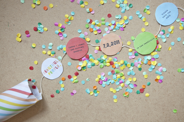 Party confetti invites