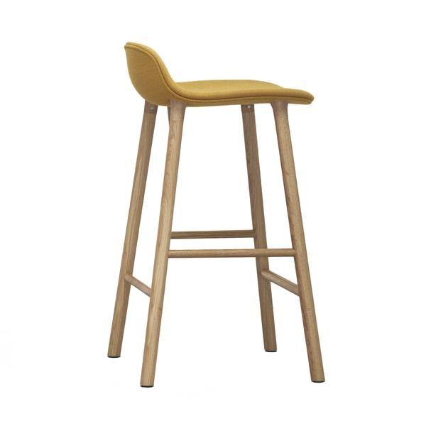 Form Bar Counter Stool Wood Legs Upholstered Bar Stools Scandinavian Furniture Design Upholstered Bar Stools