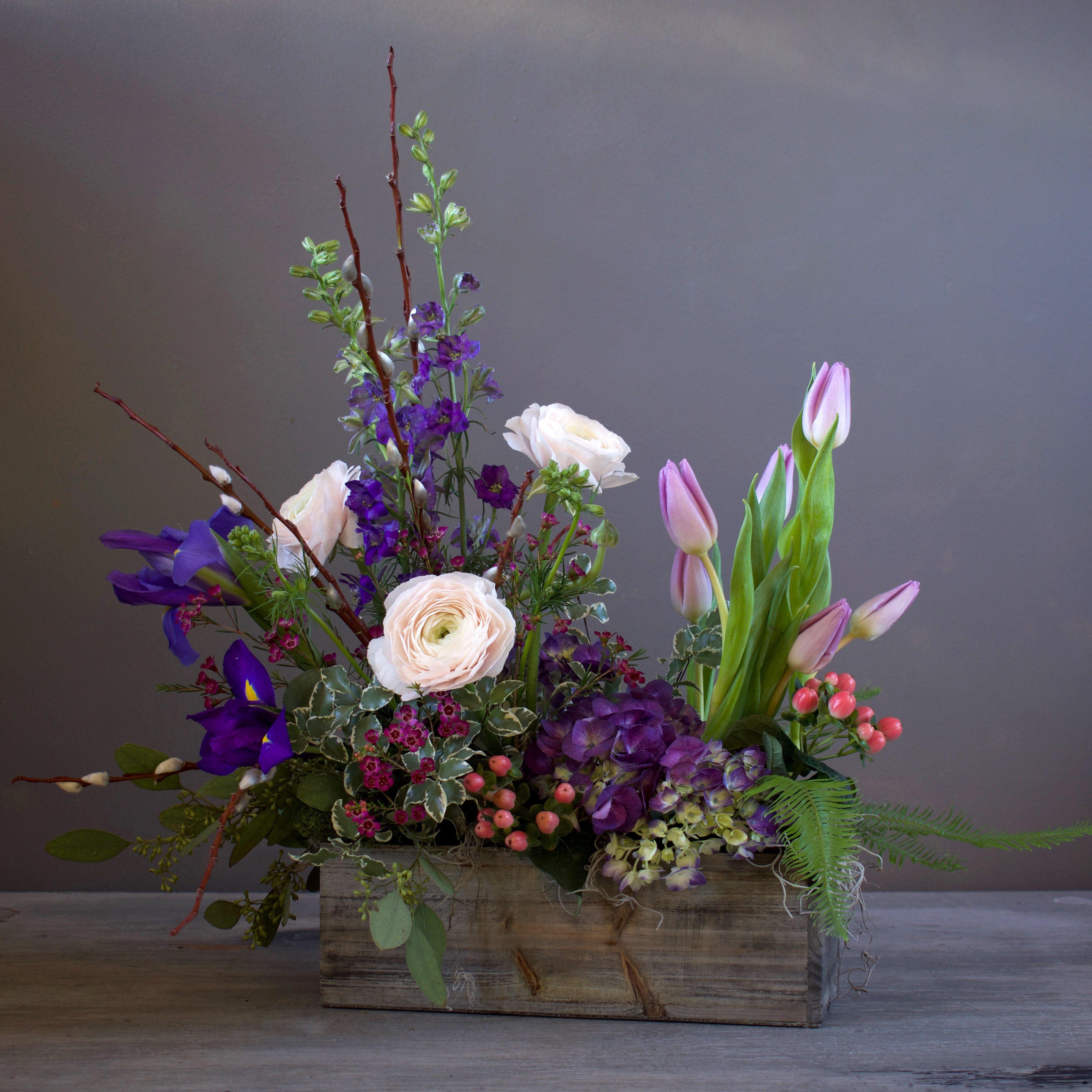 purple gardens | floral design | easter flower arrangements, floral