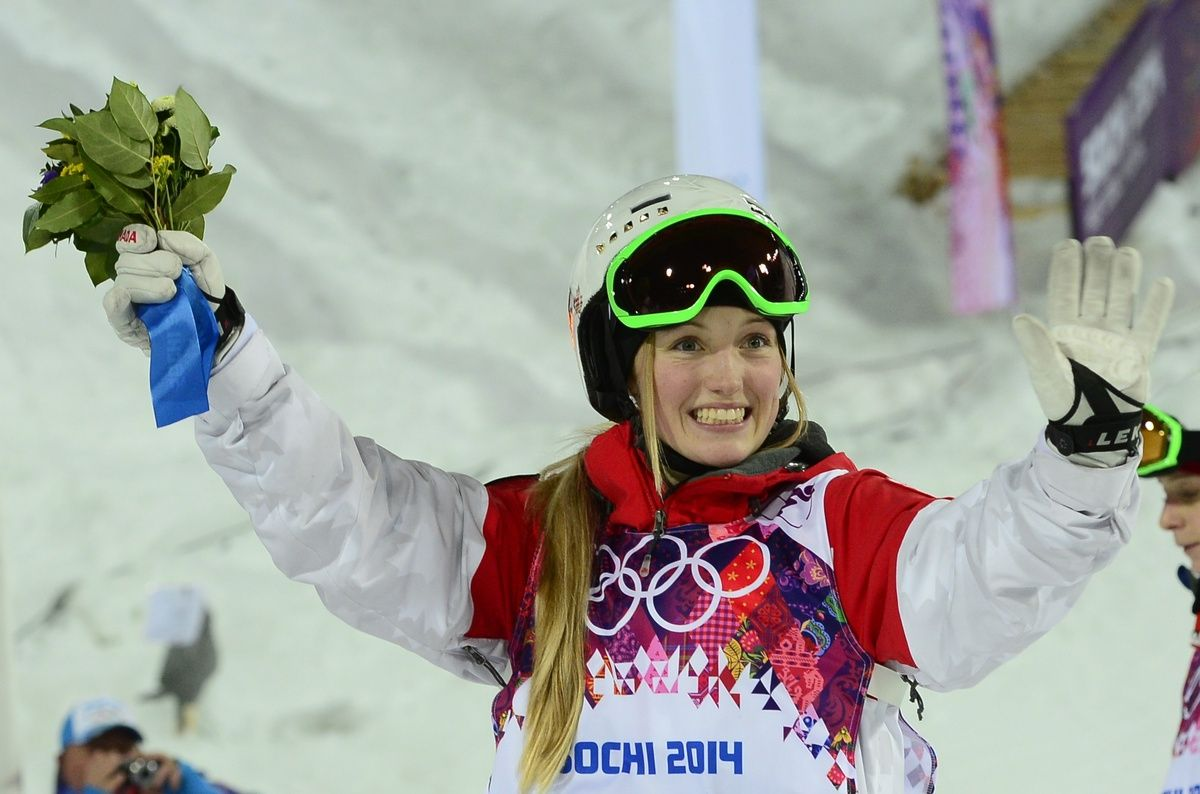 Justine Dufour-Lapointe Wins Gold, Chloe Dufour-Lapointe Wins Silver In Women's Moguls (PHOTOS)
