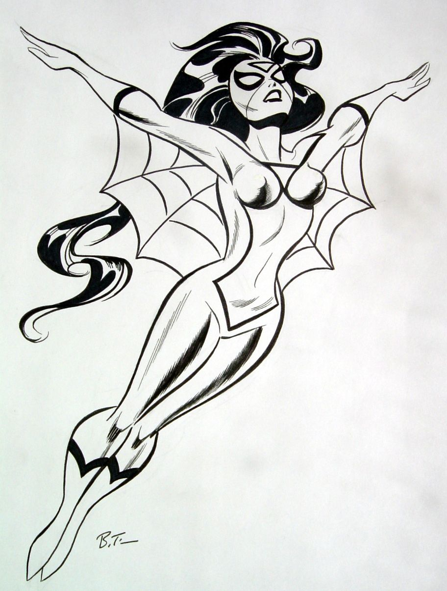 Spider Woman By Bruce Timm Ilustracoes Graficas Desenho