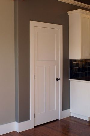 Interior Doors | White, Flat Panel C3 Contrasted With Deep Wall Color | Bayer  Built