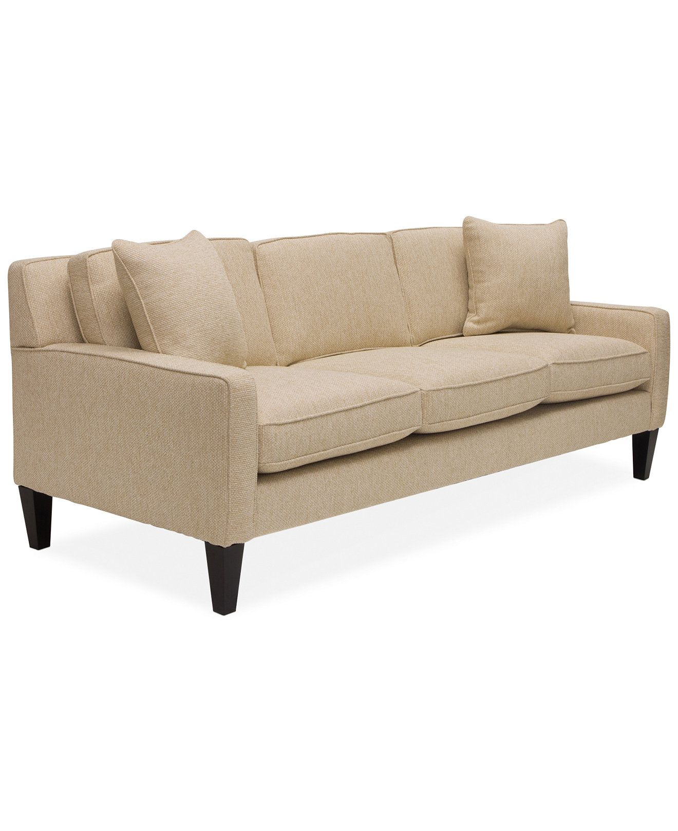 Tricia Fabric Sofa Couches & Sofas Furniture Macy s
