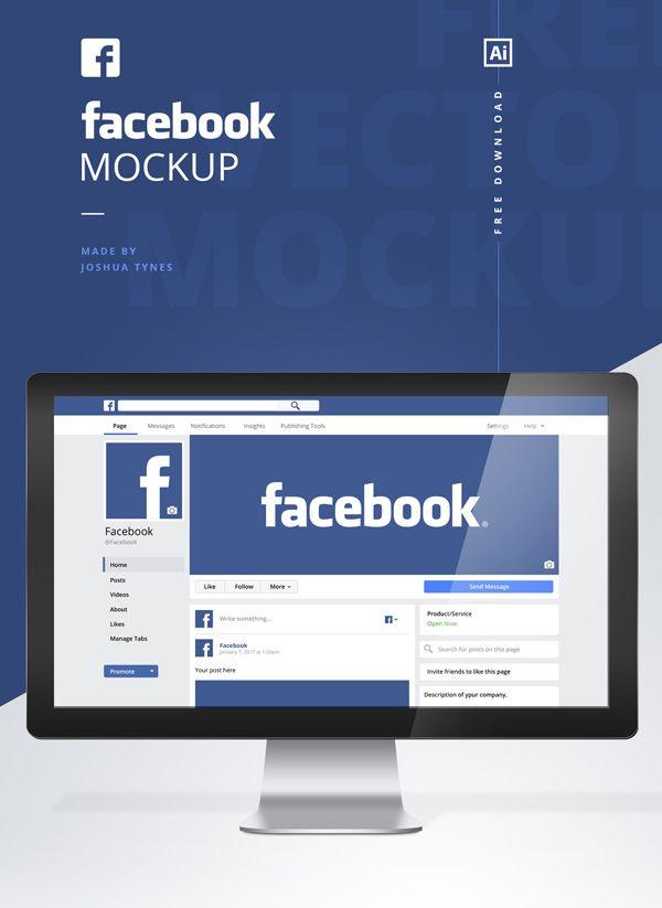 Free Facebook Mockup Psd Template Design Tutorials Inspi