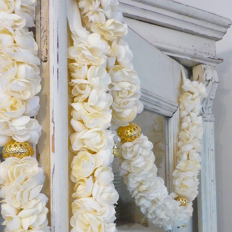 Flower Garlands For Weddings: Jasmine Fabric Flower Garland