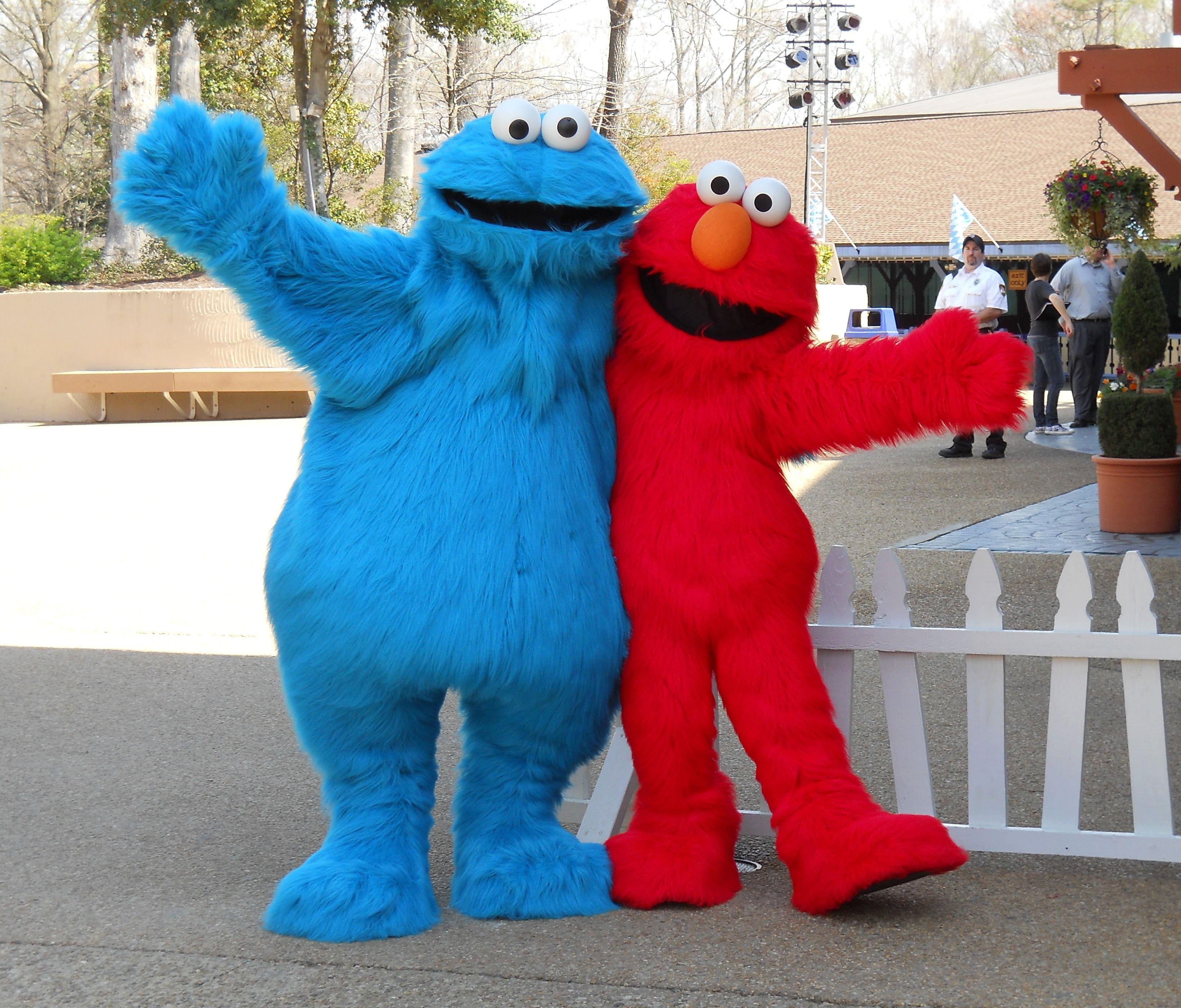 Cookie Monster Amp Elmo At Busch Gardens Busch Gardens