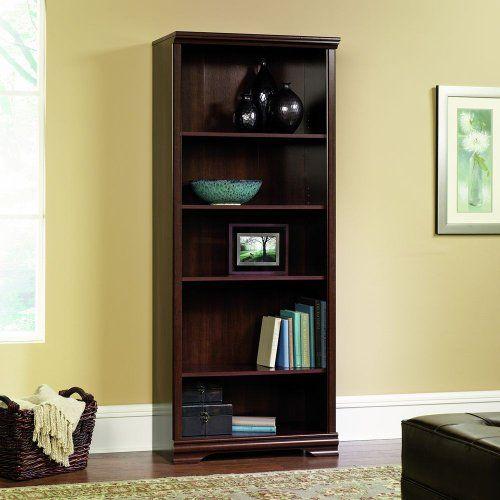 Sauder Furniture Carolina Estate 5 Shelf Adjustable Bookcase Cherry