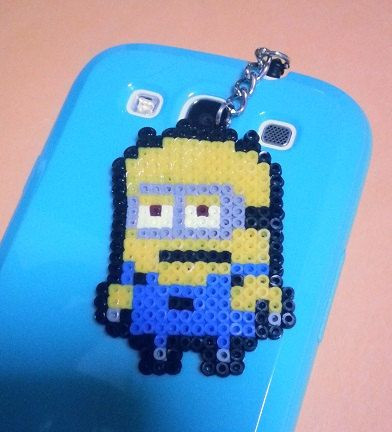 Minion Mini Hama Beads Accessory by TheKnottyLoft