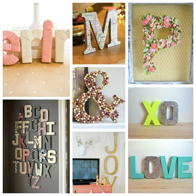 14 ways to decorate cardboard letters tomatobootsco