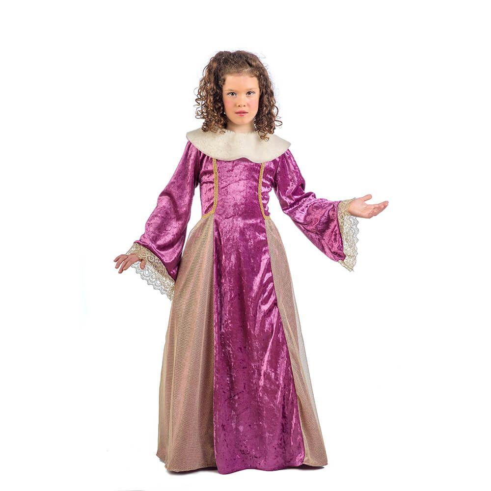 Disfraz de reina de la corte medieval para niña | Medieval, Vestidos ...