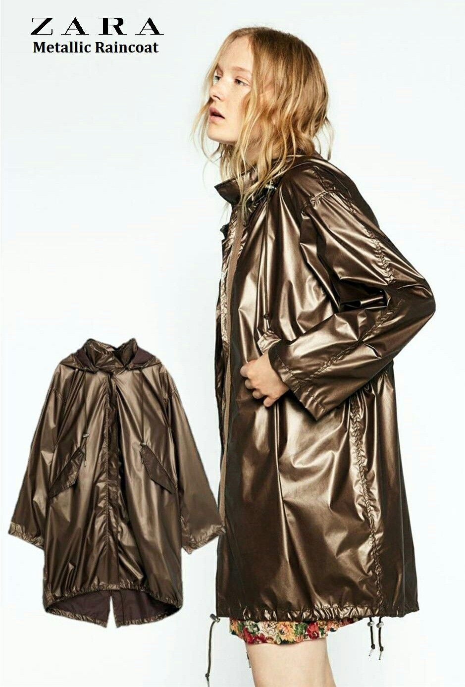 5bbc9d3ab4cc57 ZARA Metallic Raincoat- give this to me NOW Glanz, Regenmantel, Stil, Zara