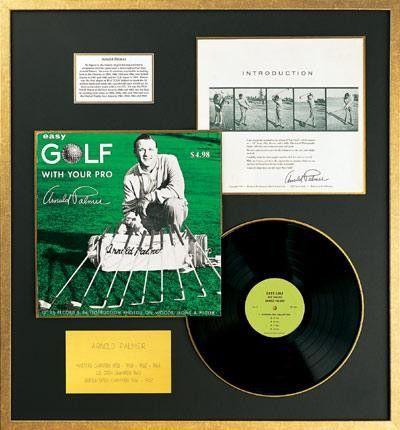 Arnold Palmer - Golf Tips Record Album - Framed