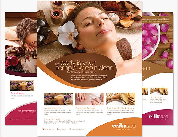 Template For Spa Flyer  Google Search  Spa    Spa