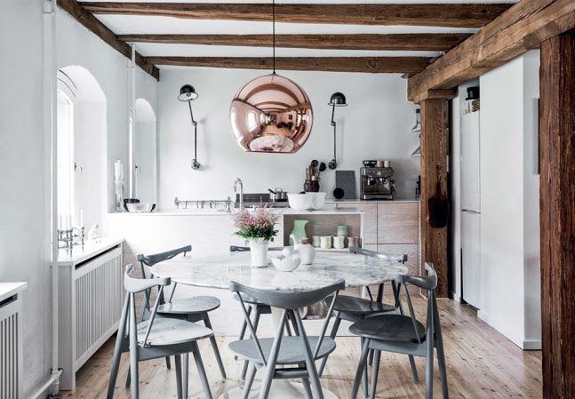 Rustique moderne : la chaleur du bois brut | Appartements anciens ...