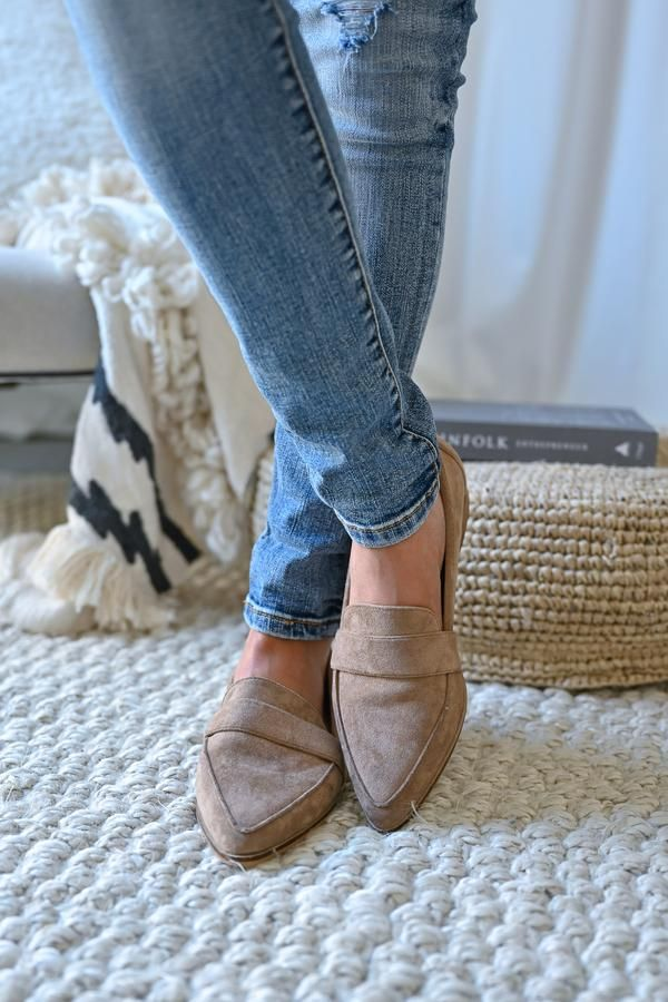 Perfect Timing Suede Loafers - Taupe #fallshoes