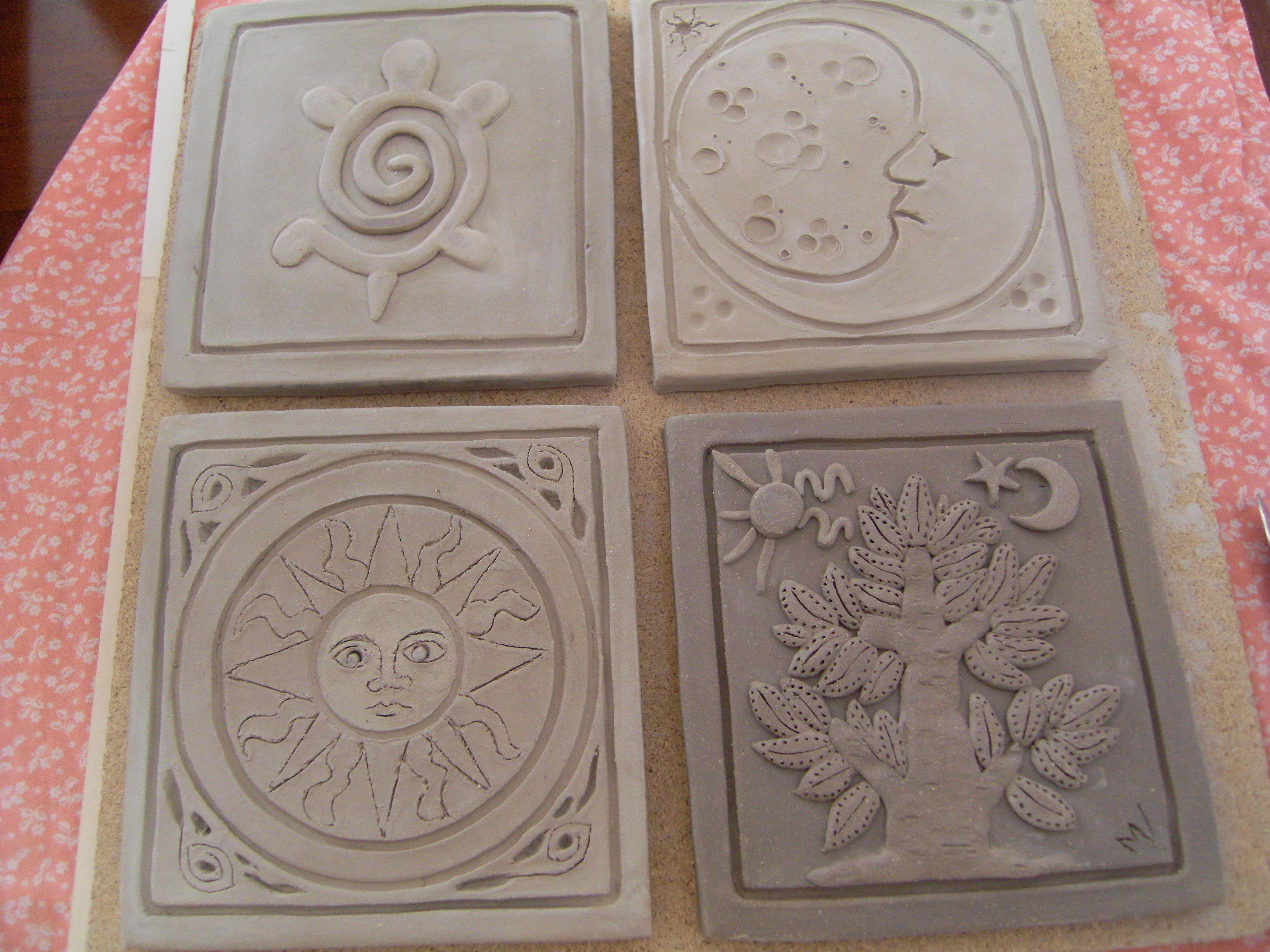 Raku piastrelle già cotte da colorare ceramica raku