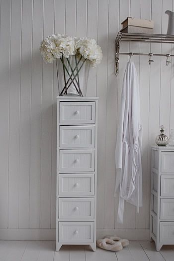Maine slim tallboy chest of 6 drawers - White Bedroom Storage Furniture | Storage furniture ...