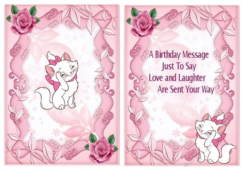 Pampered kitty in bow with pink roses A5 Insert,  also can be seen matching card