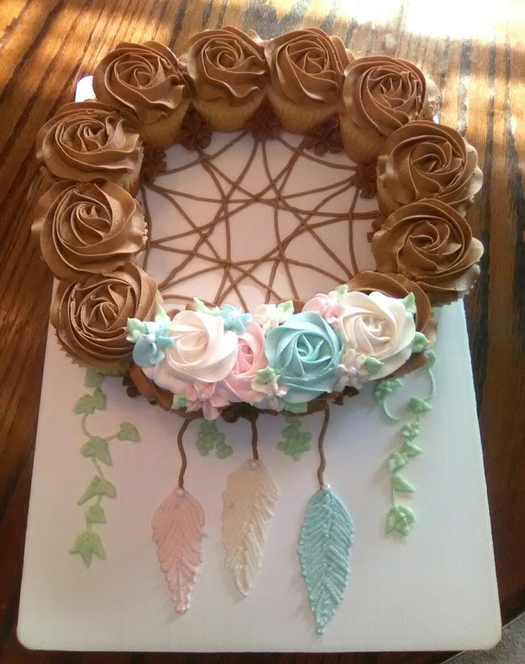 Dream Catcher Baby Shower Cupcake Cake Baby Shower Tea Party Fascinating Dream Catcher Baby Shower Cake