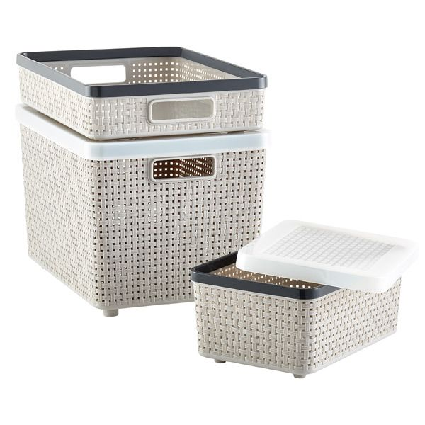 874e7be89978 Grey Cottage Woven Storage Bins in 2019 | Baskets | Storage bins ...