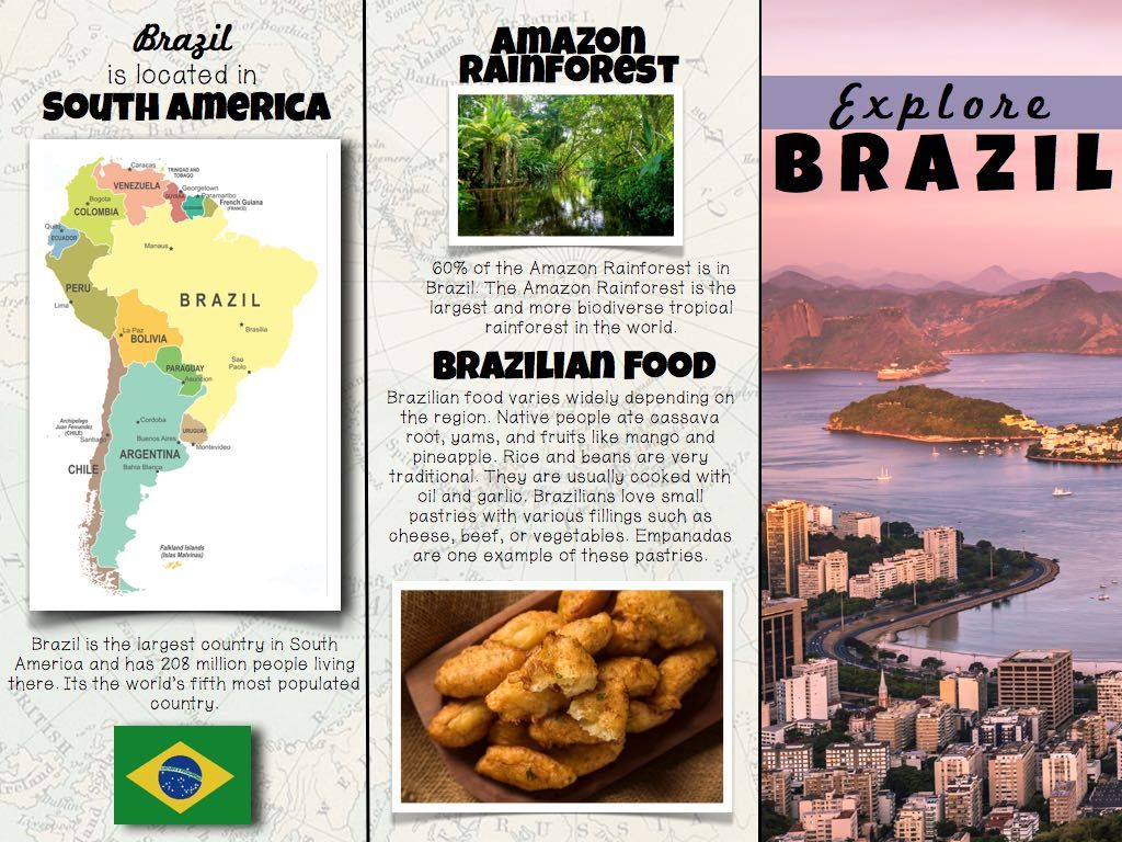 printable set of brochures for countries from south america 3