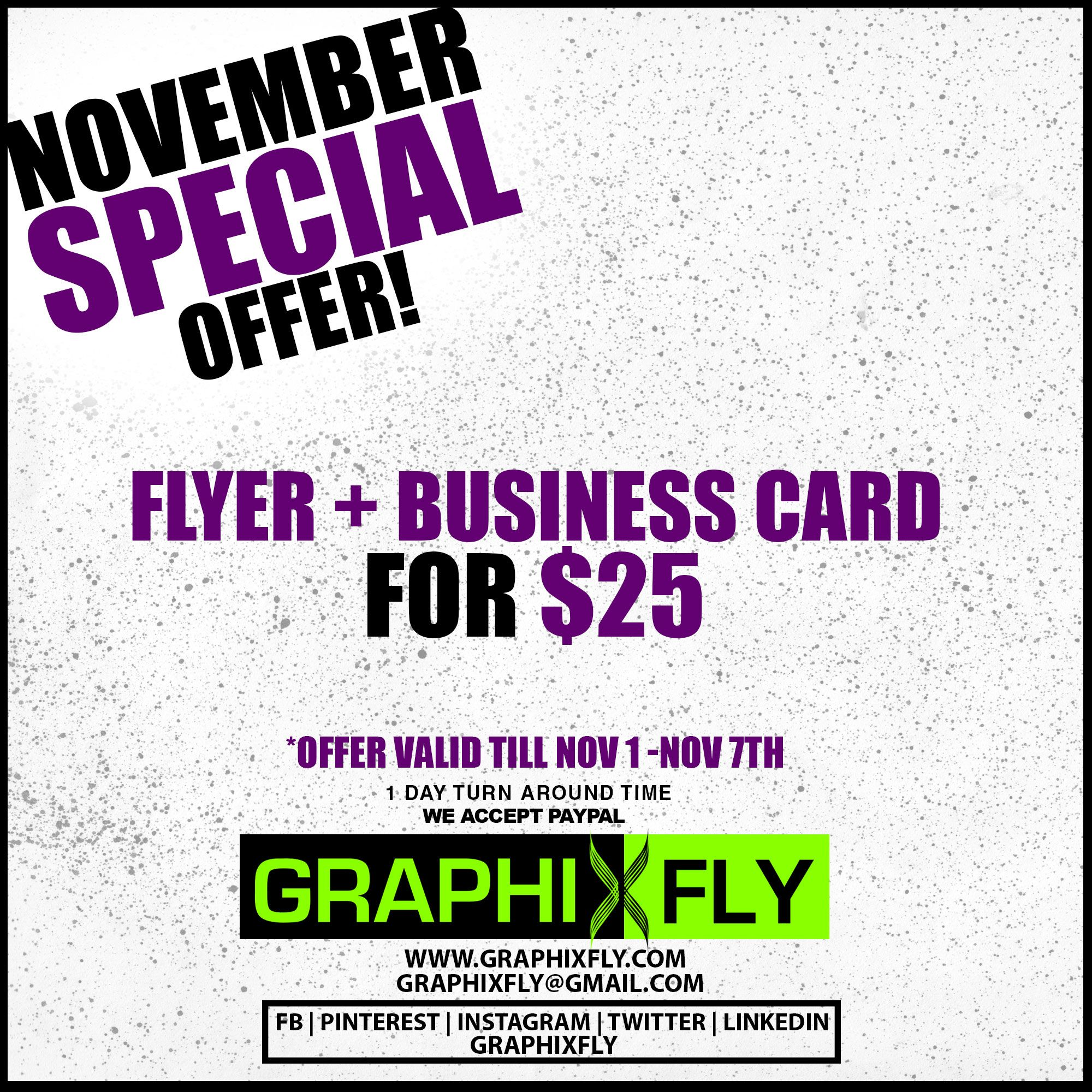 High quality Flyer + Business Card Design For Just 25$ - November ...
