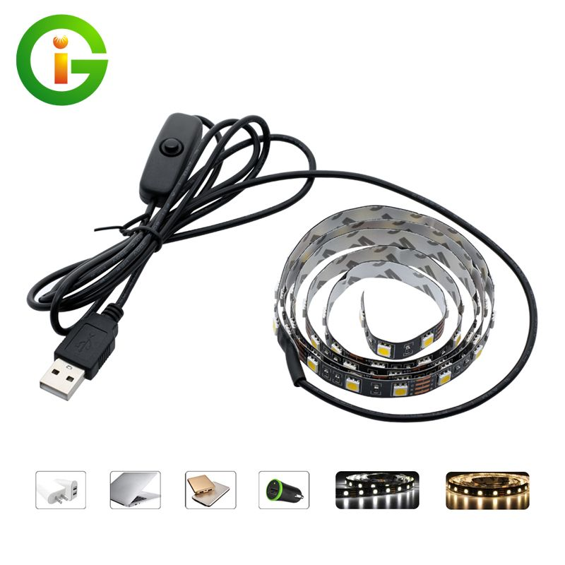 purchase cheap f53ef 2006d 5V USB LED Strip 5050 TV Background Lighting 60LEDs/m Warm ...