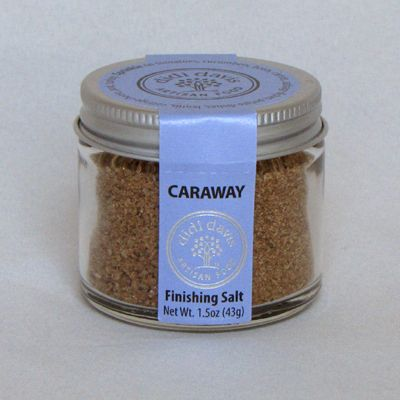 Caraway Salt combines a delicious, crunchy, moist sea salt with ground caraway, making a tasty combination. Caraway has been in culinary use for at least 5000 years. Often overlooked, this relative of dill and cumin is a welcome change in the culinary world. Used historically as a digestive aid.