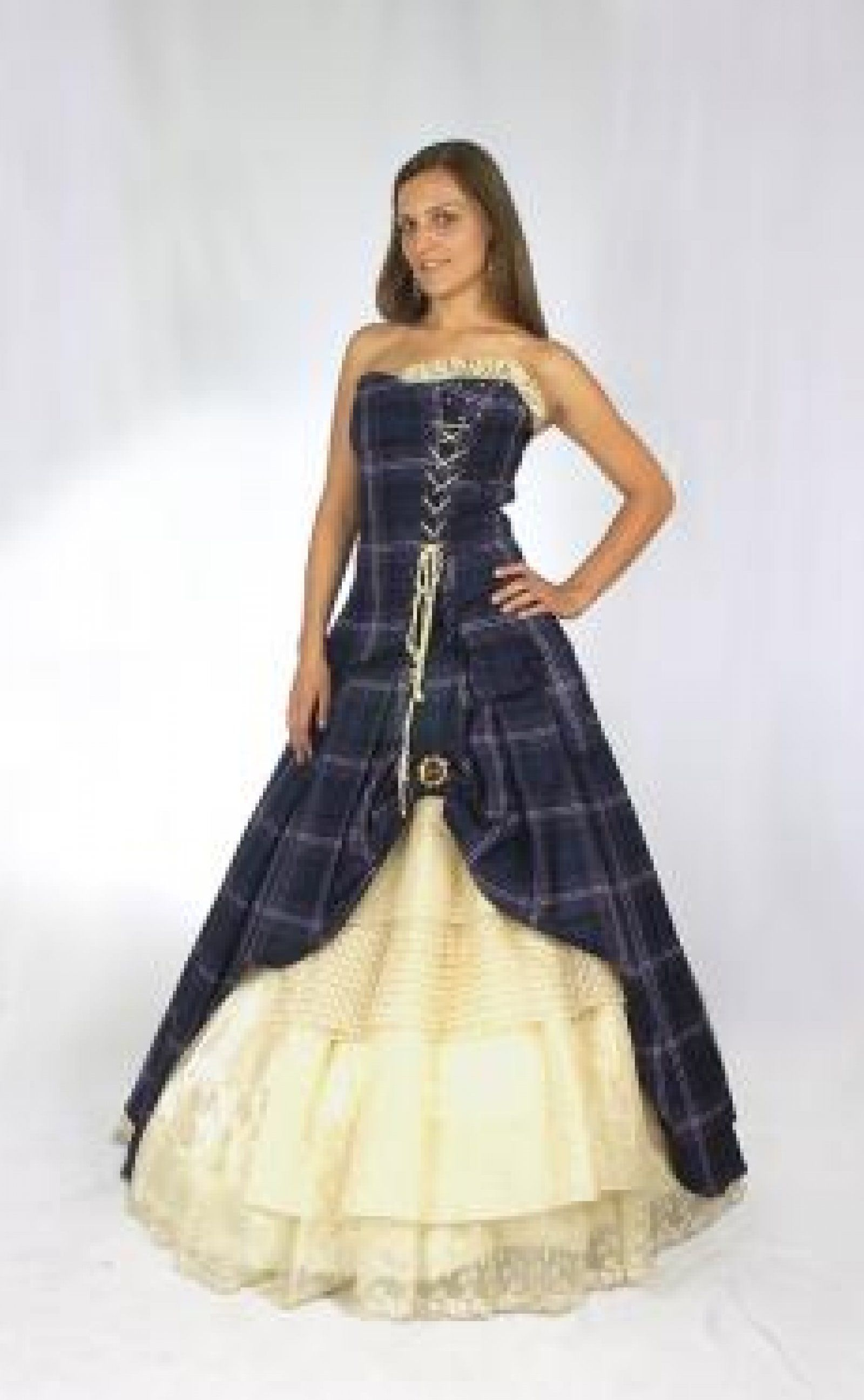 Scottish tartan wedding dress  s WEDDING GOWNS  comment on this picture the weddingvendors