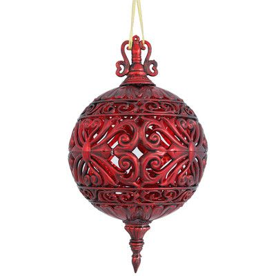 The Holiday Aisle Sculpted Christmas Ball Ornament Color: Antique Red