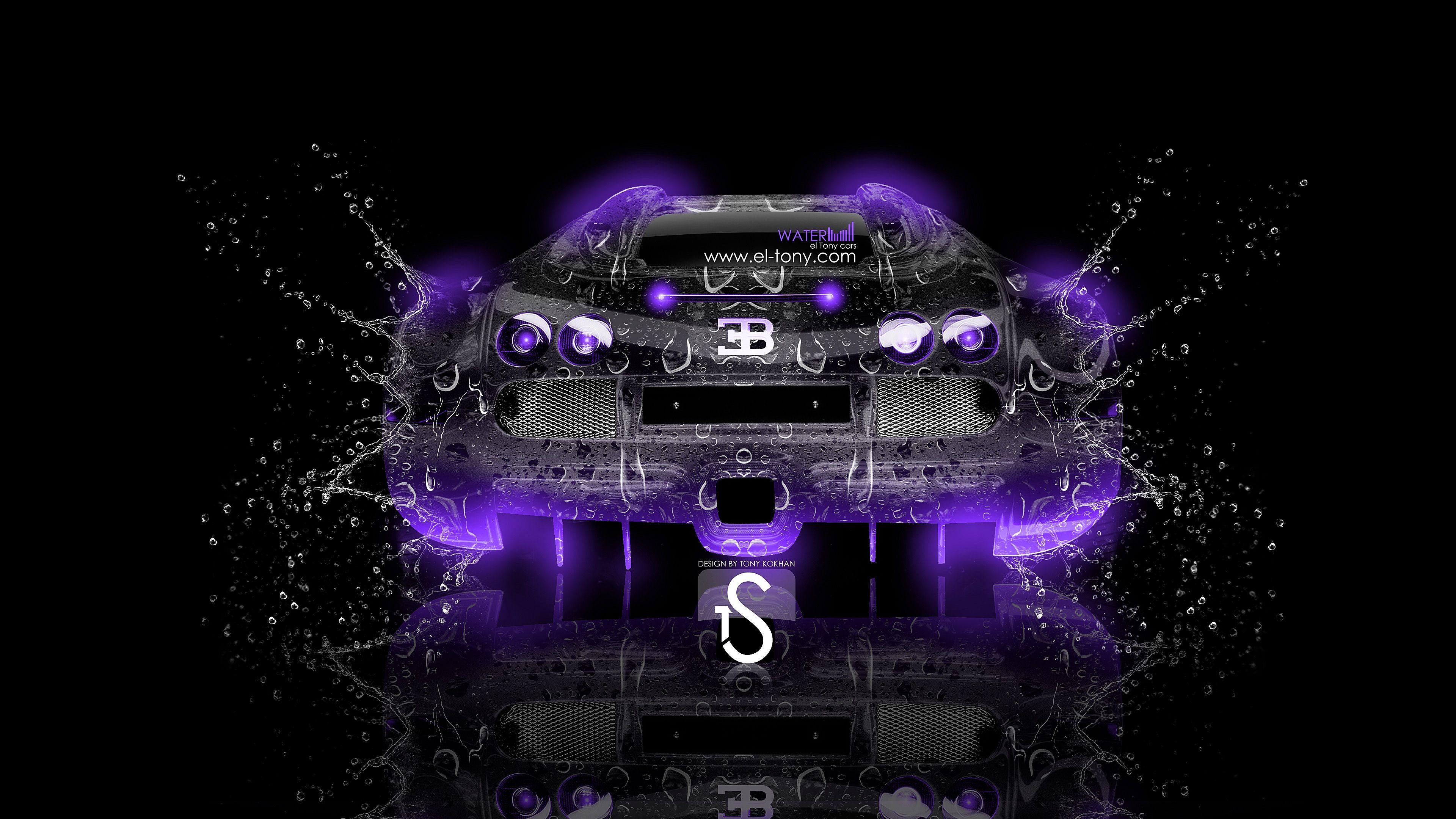 Purple Cars Neon Bugatti Veyron Hd Wallpaper Hoods Cowls Images Cooker Food