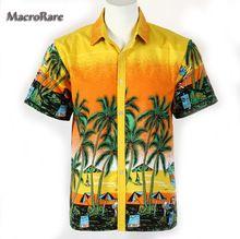 Homens soltos mais verão camisa Aloha palmeira de moda festa do sol praia  havaiana Luau Tropical de Sandbeach(China (Mainland)) bf11e50c613a3