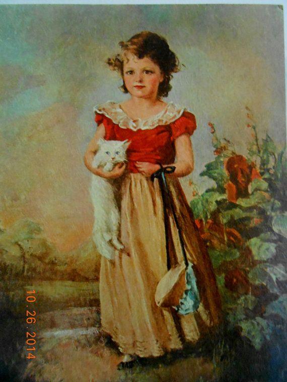 Chums by Jane Freeman Art Print of Vintage Art