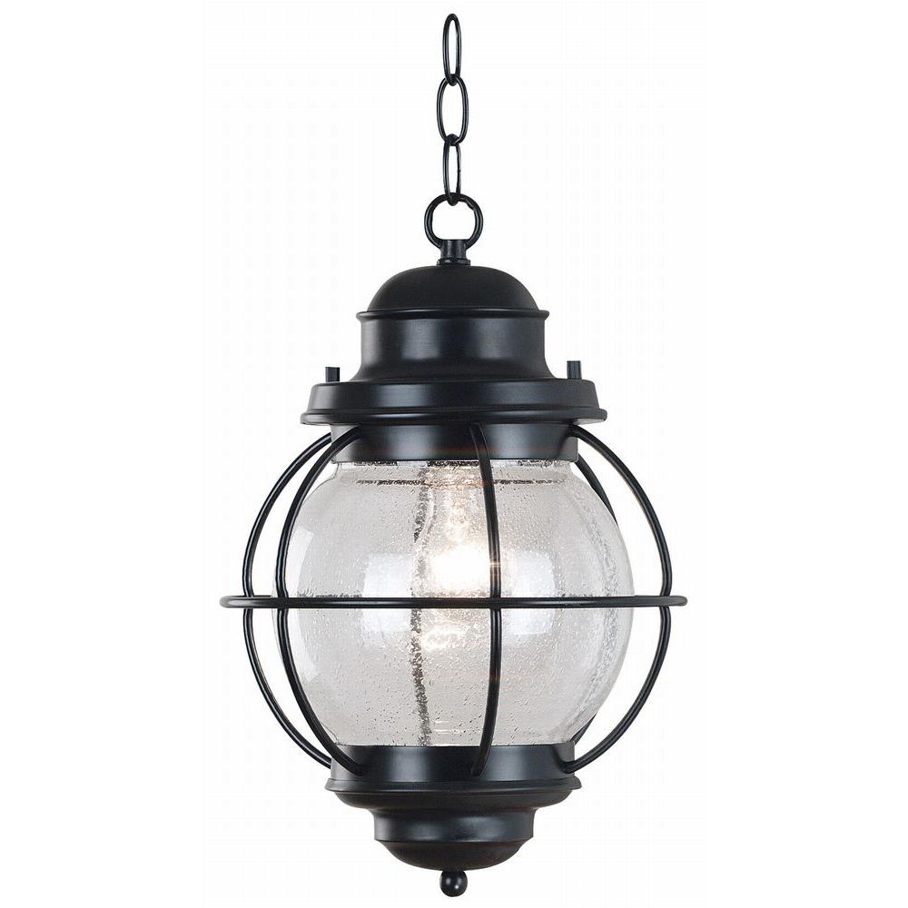Kenroy Home Hatteras 16 In Black Hanging Lantern 90965bl The Home Depot Outdoor Pendant Lighting Outdoor Hanging Lanterns Outdoor Hanging Lights