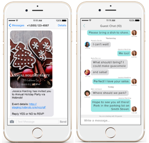 hobnob app a free way to create manage party invites our
