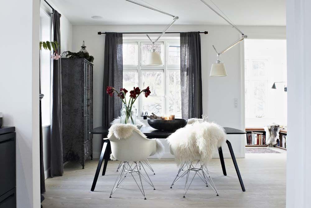 Helles Wohnzimmer Skandinavisch Esstisch Wohnideen