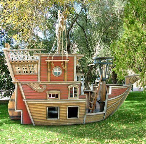 Casita De Jardin Barco Pirata Casas De Juego Casa De Ninos