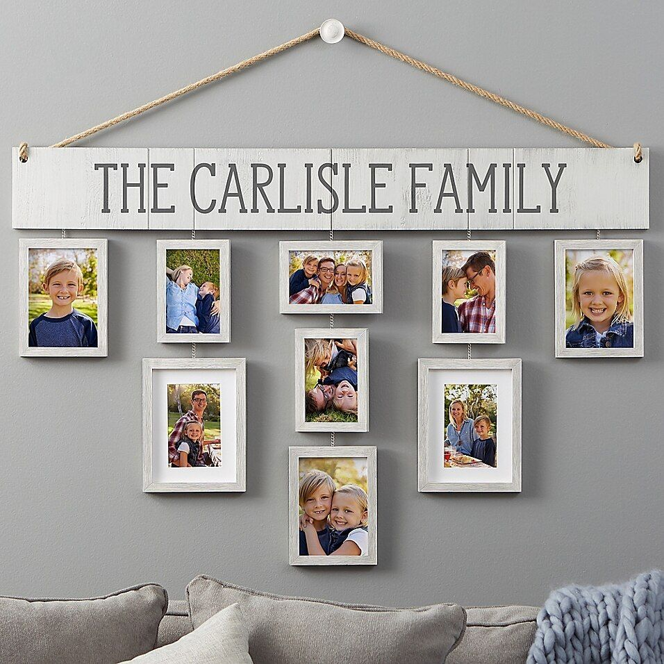 Wallverbs Our Family Personalized Hanging Picture Frame Set - Design a visual and sentimental work of art on your wall with the Wallverbs ™ Our Family Personalized Hanging Picture Frame Set. Personalized with any Family Name or 1 line of text, this collection is perfect for displaying your favorite photos.