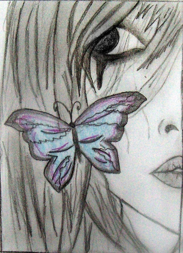 Cool fairy drawings emo anime girl by nico15adry my for Cool drawings of butterflies