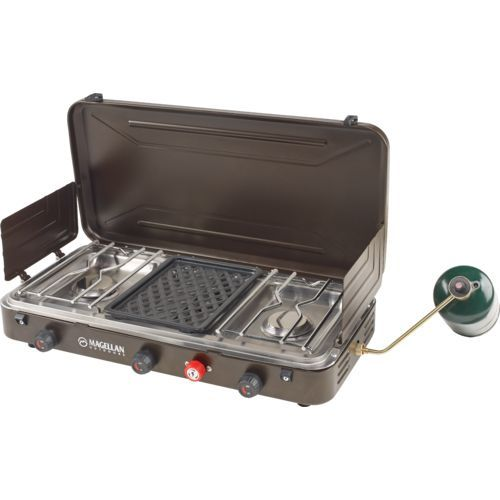 Image For Magellan Outdoors 2 Burner Stove With Grill From Academy Burner Stove Grilling Camping Grill