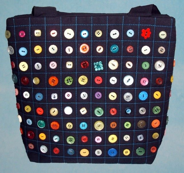 Button Handbag tote