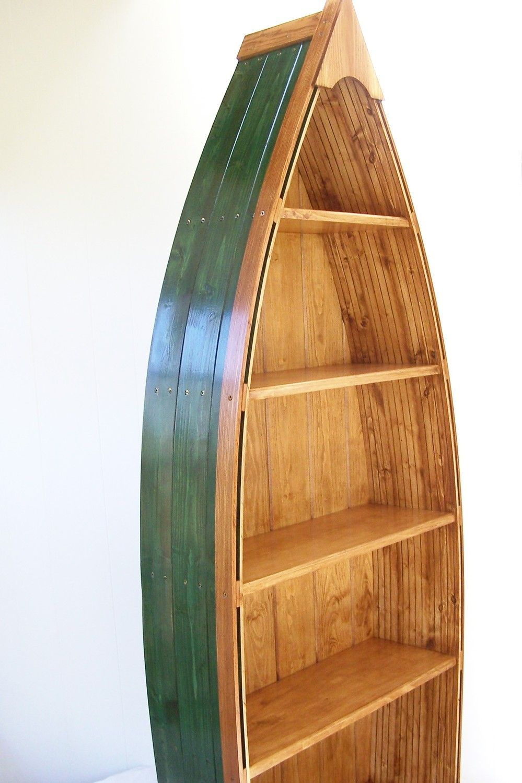 Boat Bookcase In Green Boat Bookcase Bookcase Plans Bookcase