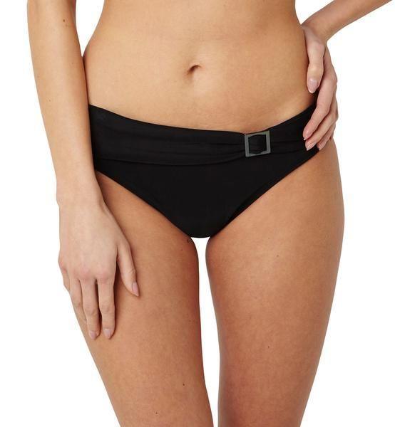 NWT PANACHE Anya M classic swim brief swimsuit bottom buckle black bikini