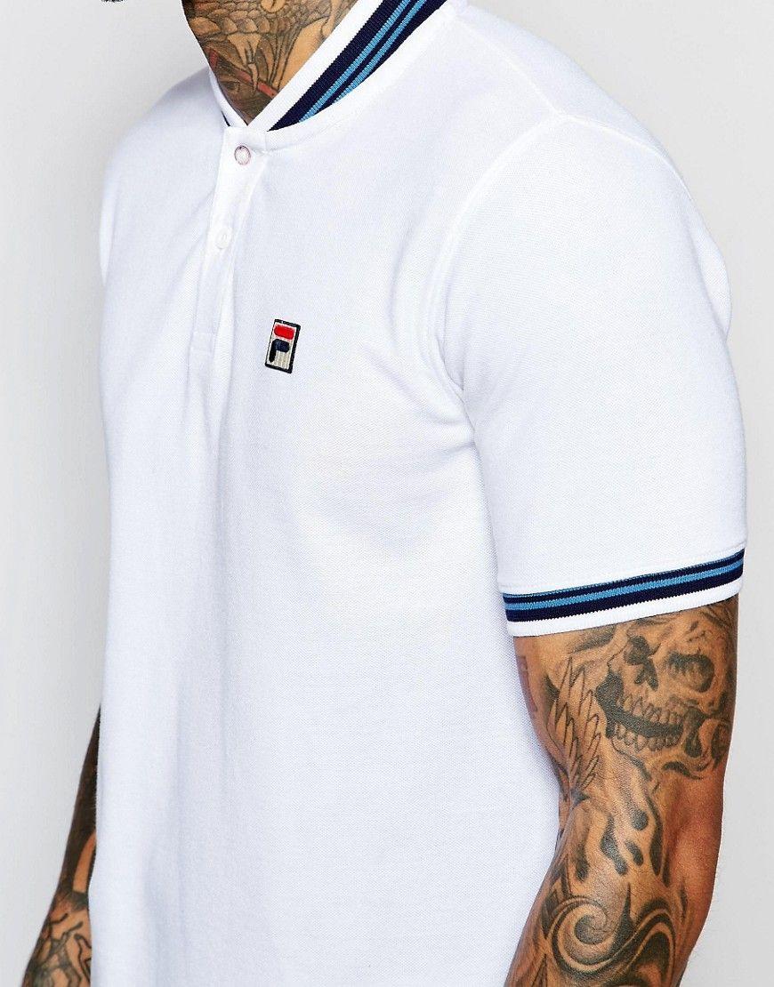 3f31ea1c222f Fila Vintage Polo Shirt With Baseball Collar | ALLMANWEAR | Fila ...