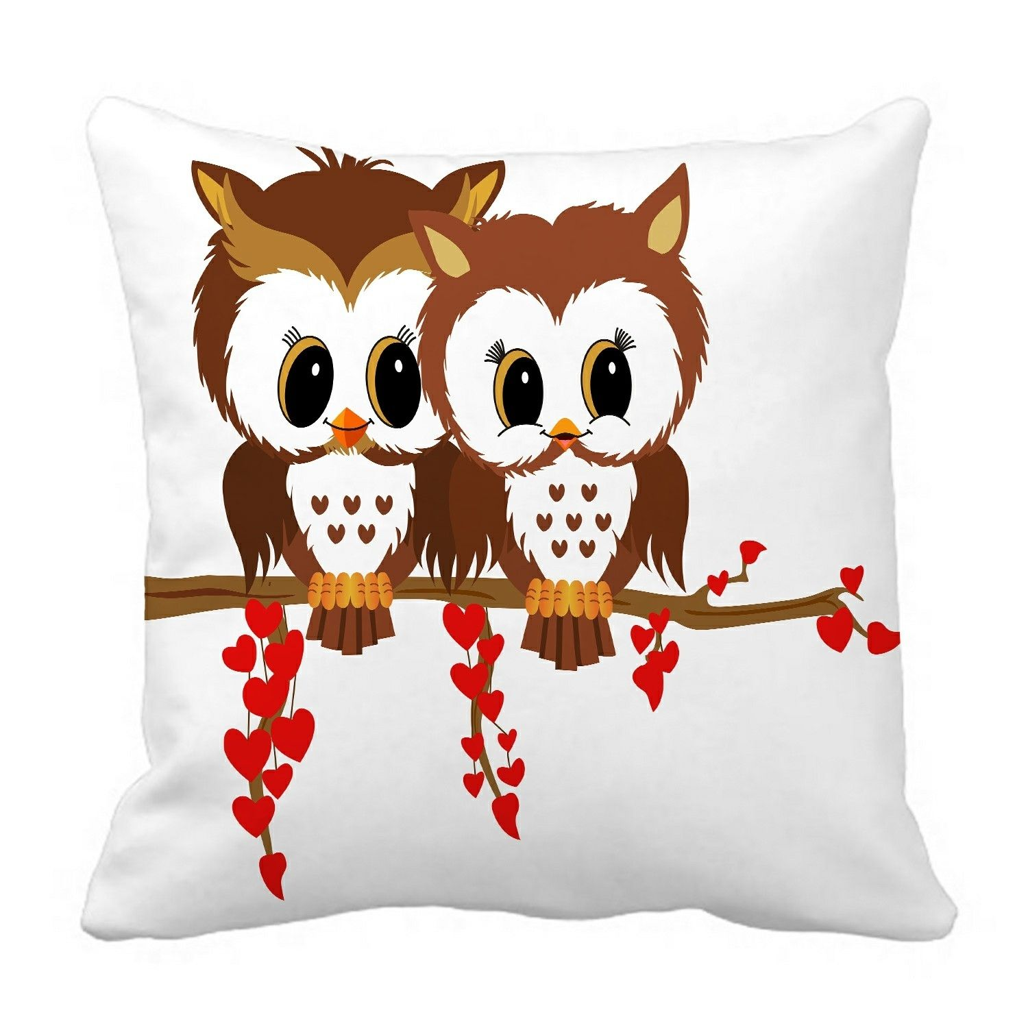 Valentine owls Pillow?Case?Pillow?Cover?Cushion?Cover