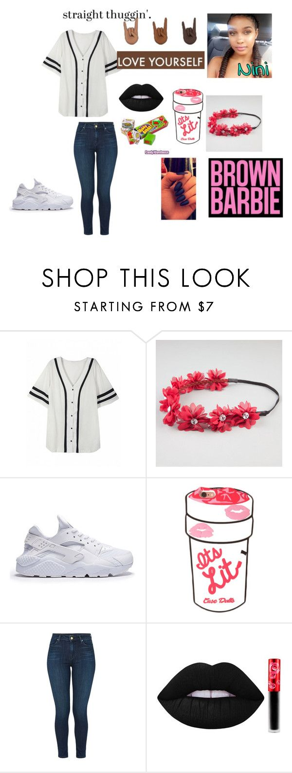"""jersey"" by zayslayy ❤ liked on Polyvore featuring Full Tilt, J Brand and Lime Crime"